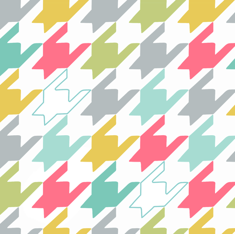 Big Happy Houndstooth fabric by pattysloniger on Spoonflower - custom fabric