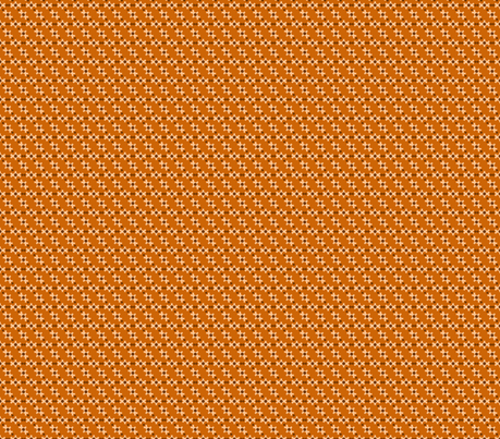 Dots and Gear Teeth - Orange Brown