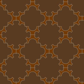 Half Gear Lattice - Mixed Browns