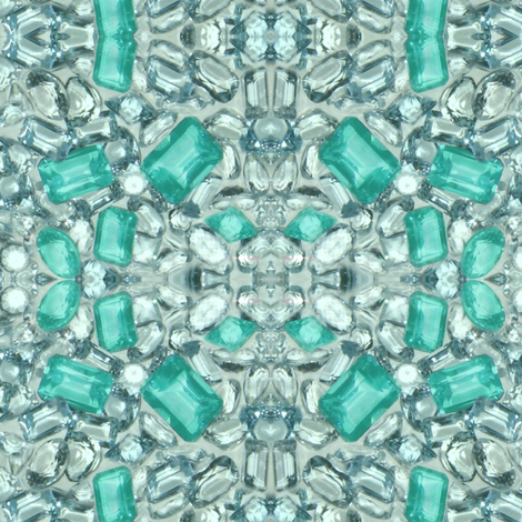Paraiba Tourmaline fabric by paragonstudios on Spoonflower - custom fabric