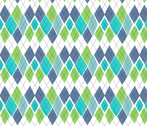 "C'EST LA VIVâ""¢ ARGYLE & DIAMOND Collection_MONDAY ARGYLE fabric by cest_la_viv on Spoonflower - custom fabric"