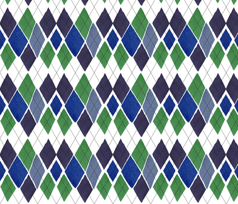 C'EST LA VIV™ ARGYLE & DIAMOND Collection_TUESDAY ARGYLE fabric by cest_la_viv on Spoonflower - custom fabric