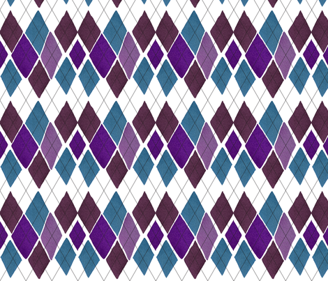 "C'EST LA VIVâ""¢ ARGYLE & DIAMOND Collection_WEDNESDAY ARGYLE  fabric by cest_la_viv on Spoonflower - custom fabric"