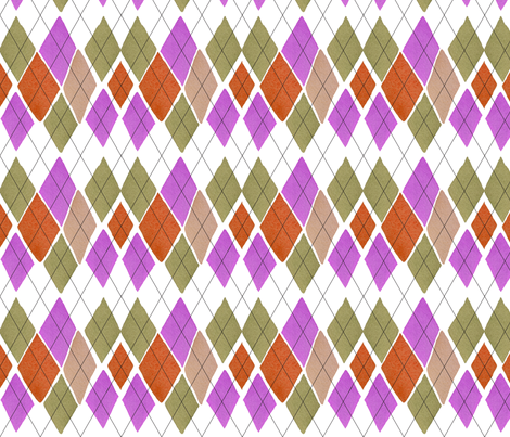 C'EST LA VIV™ ARGYLE & DIAMOND Collection_FRIDAY ARGYLE  fabric by cest_la_viv on Spoonflower - custom fabric
