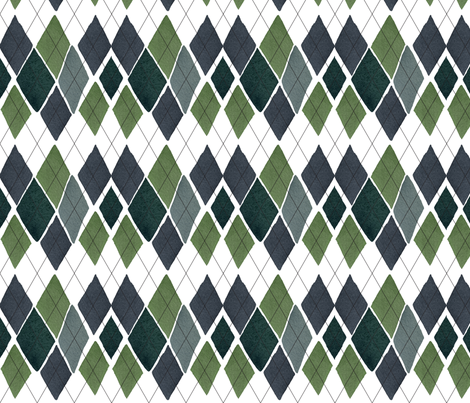 "C'EST LA VIVâ""¢ ARGYLE & DIAMOND Collection_SUNDAY ARGYLE  fabric by cest_la_viv on Spoonflower - custom fabric"