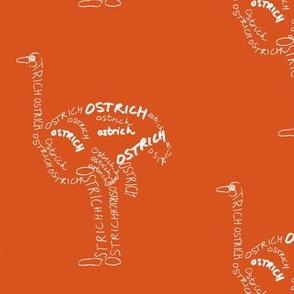 Ostrich Calligram