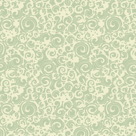 Are You a Hypnotist? (seafoam/cream) fabric by leighr on Spoonflower - custom fabric