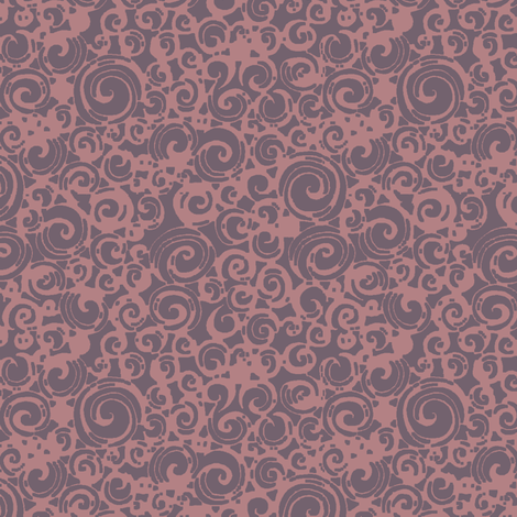 Are You a Hypnotist? (plum/pink) fabric by leighr on Spoonflower - custom fabric