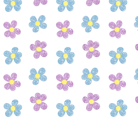 Bandana Flowers fabric by mandollyn on Spoonflower - custom fabric