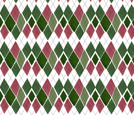 C'EST LA VIV™ ARGYLE & DIAMOND Collection_THURSDAY ARGYLE fabric by cest_la_viv on Spoonflower - custom fabric