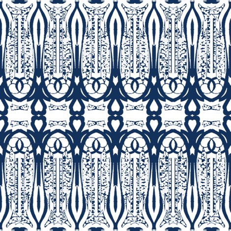 Love Is - Midnight Blue fabric by kristopherk on Spoonflower - custom fabric