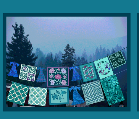 Clothesline_quilt-3_fat-quarter fabric by mina on Spoonflower - custom fabric