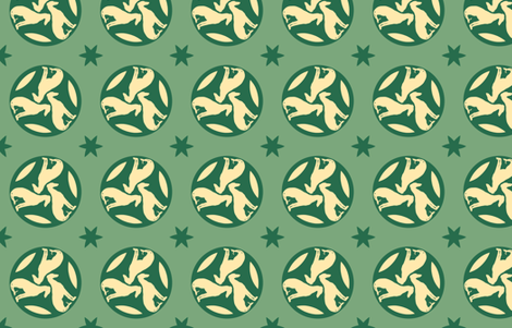 Green Greyhounds gg3 ©2010 by Jane Walker fabric by artbyjanewalker on Spoonflower - custom fabric