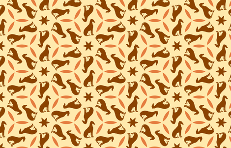 Rust Greyhounds gg2   ©2010 by Jane Walker fabric by artbyjanewalker on Spoonflower - custom fabric