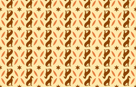 Rust Greyhounds gg4    ©2010 by Jane Walker fabric by artbyjanewalker on Spoonflower - custom fabric