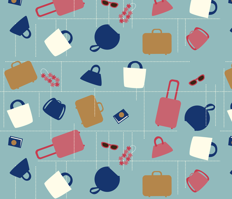 Excess Baggage fabric by acbeilke on Spoonflower - custom fabric