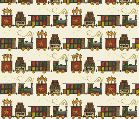 Giraffe Grand Tour fabric by scrummy on Spoonflower - custom fabric