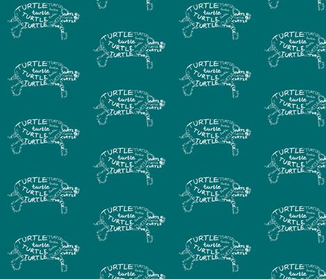 Turtle Calligram fabric by blue_jacaranda on Spoonflower - custom fabric