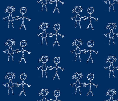 Boy And Girl fabric by blue_jacaranda on Spoonflower - custom fabric