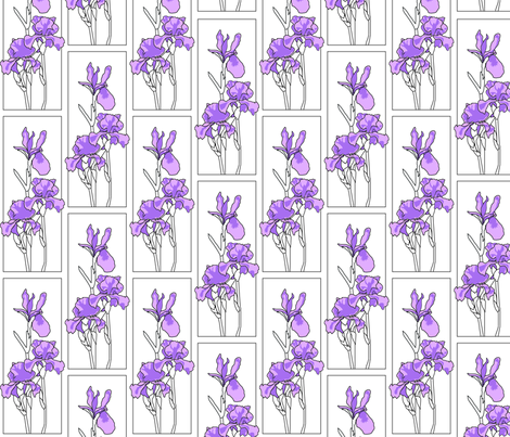 irises fabric by lazydee on Spoonflower - custom fabric