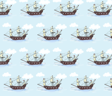 Ship fabric by taraput on Spoonflower - custom fabric