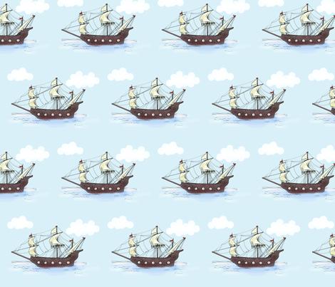 Ship fabric by taraput on Spoonflower - custom fabric