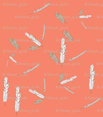 Geometric Pink Feather