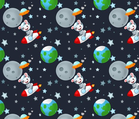 Rabbits like rocket travel fabric the little one for Rocket fabric