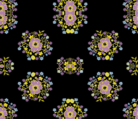 slflower-ch-ch fabric by rokinronda on Spoonflower - custom fabric
