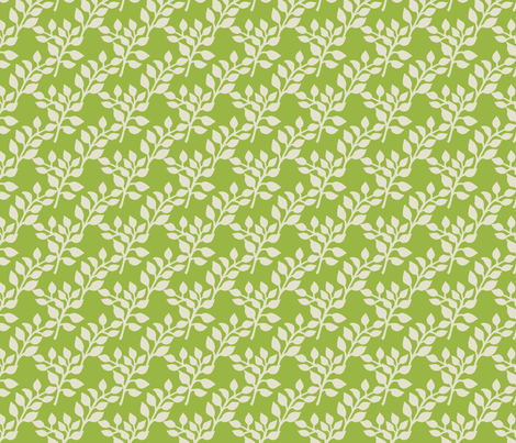 Flora green fabric by mytinystar on Spoonflower - custom fabric