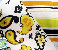 "C'EST LA VIVâ""¢ PAISLEY CRAZY Collection_PAISLEY LEMON"