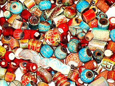raku beads photo