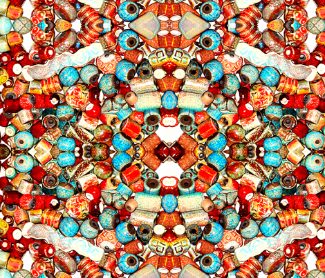 raku beads photo fabric by zanzibarbarian on Spoonflower - custom fabric