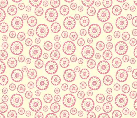 Pink medallion small fabric by crimsonpear on Spoonflower - custom fabric