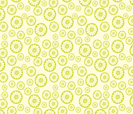 Lime green medallion small fabric by crimsonpear on Spoonflower - custom fabric