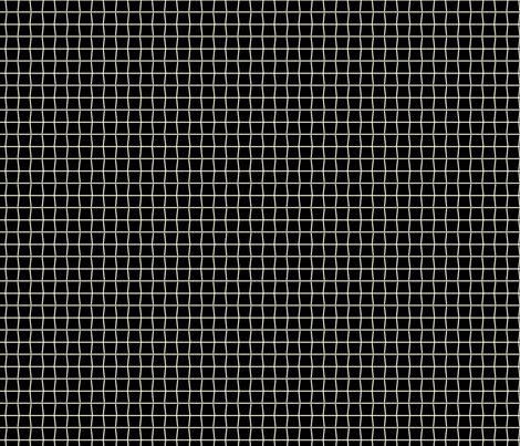 Tennis Strings Black fabric by freshlypieced on Spoonflower - custom fabric