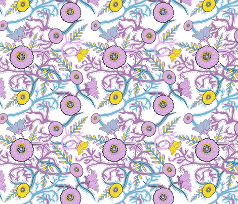 Summer Garden fabric by vinpauld on Spoonflower - custom fabric