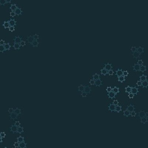 Swirl of Gears - Teal