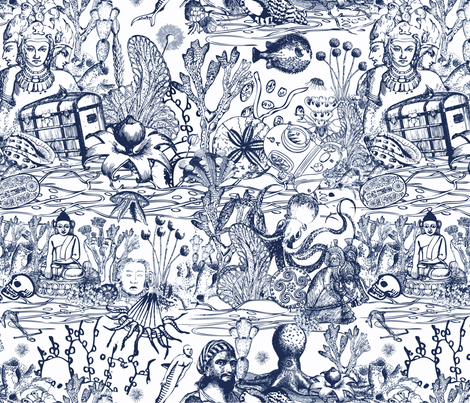 sea-treasures fabric by maruqui on Spoonflower - custom fabric