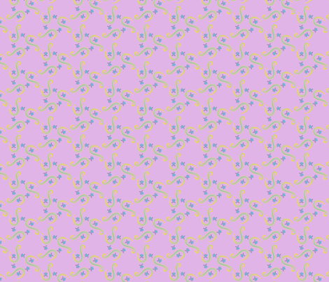 Small Paisley - Purple Ground