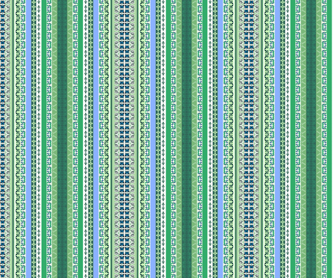 Lacey  Stripe - Mothers Garden fabric by paragonstudios on Spoonflower - custom fabric