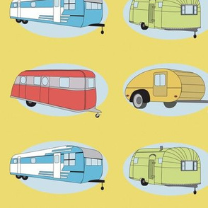 Retro Travel in Yellow