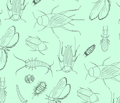 I_have_the_jitters_pale_green fabric by victorialasher on Spoonflower - custom fabric