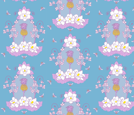 Southern_Sylvia fabric by jumping_monkeys on Spoonflower - custom fabric