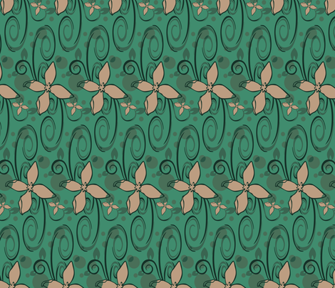 floralscroll fabric by artbybaha on Spoonflower - custom fabric