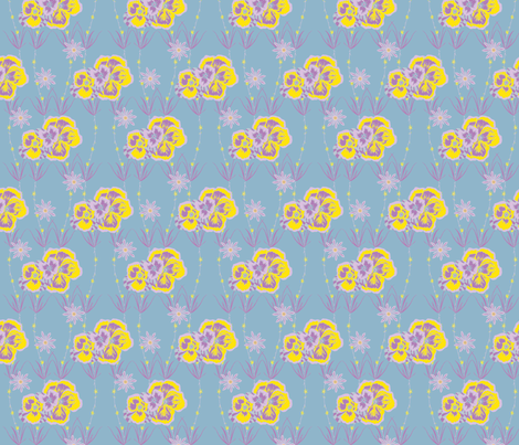 Summer Blossoms fabric by patternbase on Spoonflower - custom fabric