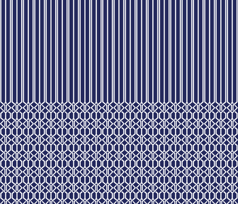 True Graphic Blue Border fabric by danielbingham on Spoonflower - custom fabric