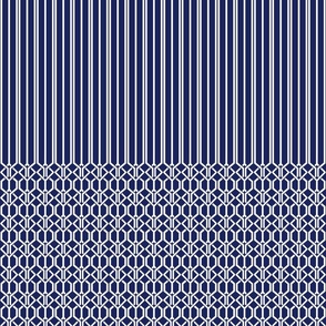 True Graphic Blue Border