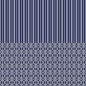 True Graphic Blue Border