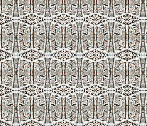 fence post kaleidoscope fabric by zanzibarbarian on Spoonflower - custom fabric